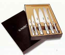 Ножи кухонные с металлическими ручками (6 предметов)