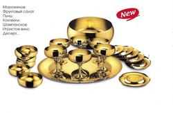 Барон - Комплект креманок на 6 персон позолоченный