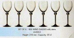 Фужеры для красного вина с металлической ножкой (6 штук)
