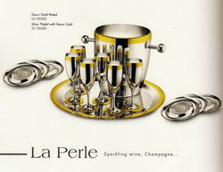 Ла Перле - Комплект на 6 персон посеребренный с золотым декором