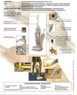 Беспроводной переносной пылесос 2 в одном (удобный вертикальный пылесос и съемный ручной пылесос футуристического дизайна)-