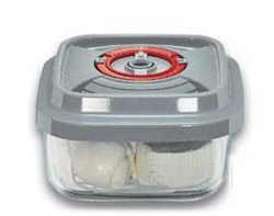 Стеклянный контейнер квадратный малый 15х15х8,5 см -1,1 л